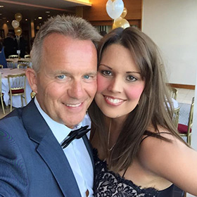 Glenn Harrold and his wife Nicola Haslett (also a Hypnotherapist)