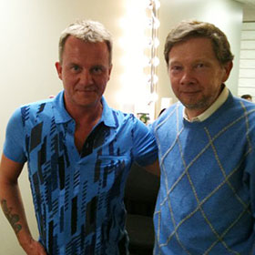 Glenn with Eckhart Tolle