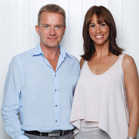 Glenn with Andrea McLean (GMTV & Loose Women)