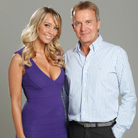 GlennHarrold hypnotherapist with Charlotte Mears (Model)