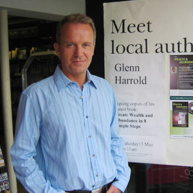 Glenn at his Waterstones book signing