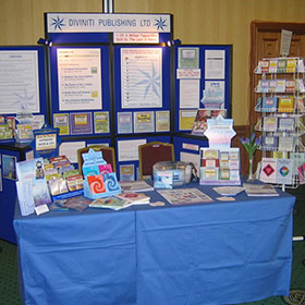 Diviniti Publishing trade show stand