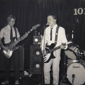 Glenn Harrold with his band The Vagrants (AKA The Sugar Ray Five) at the 101 Club in 1980