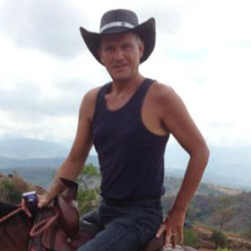 Glenn Harrold horse-riding in Panama