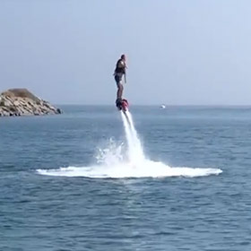 Glenn Harrold jetboarding in the Algarve